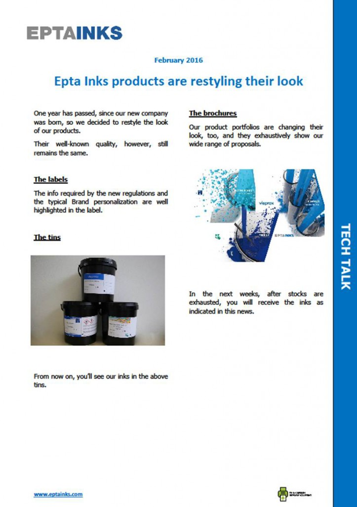 Epta Inks new look